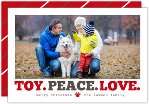 Peace Love and Toys Pet Holiday Card