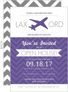 Airplane Chevron Going Away Invitation