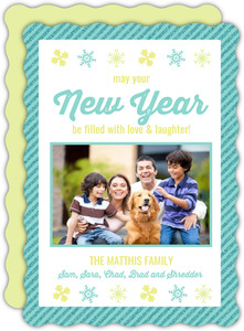 Colorful Snowflakes New Years Card