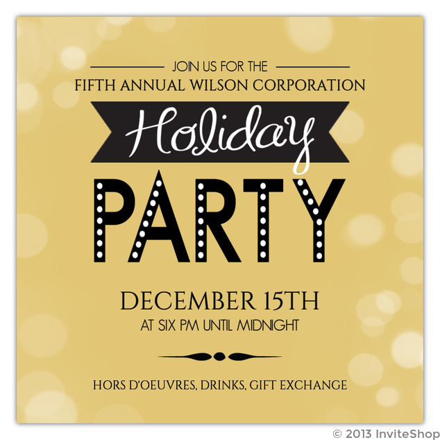cheap business holiday party invitations invite shop