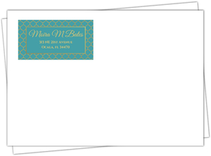 Faux Gold Mandala Wedding Envelope