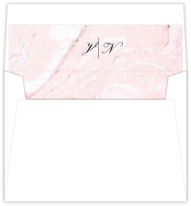 Classic Blush Marble Envelope Liner