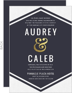 Modern Ampersand Gold Foil Wedding Invitation