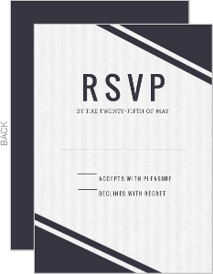 Modern Ampersand Gold Foil Wedding Response Card