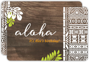 Rustic Aloha Birthday Party Invitation