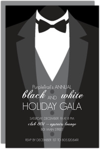 Black Tie Company Business Holiday Party Invitation