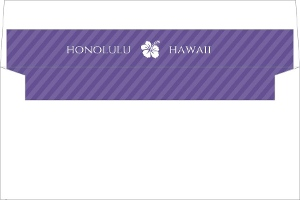 Purple Destination Boarding Pass Envelope Liner