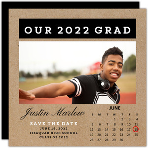 Kraft Calendar Graduation Announcement