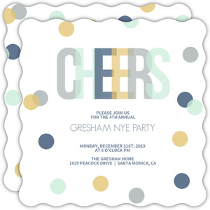 Confetti Celebration New Years Invitation