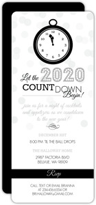 Countdown Clock New Years Invitation