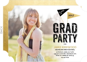 Celebration Flags Graduation Invitation