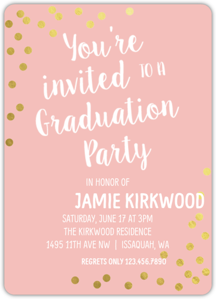 Pink rose gold graduation invitation graduation announcements pink rose gold graduation invitation spinner small loading filmwisefo