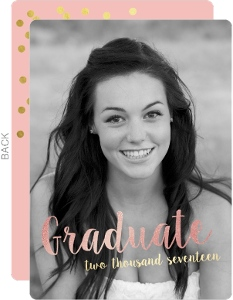 Pink & Rose Gold Graduation Invitation