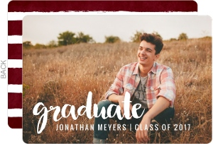 Script Overlay Graduation Announcement
