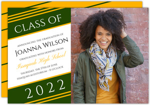Simple Thin Stripes Graduation Announcement