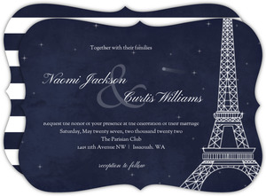 Whimsical Paris Night Wedding Invitation