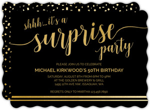 Shhh Its A Surprise 50th Birthday Invitation
