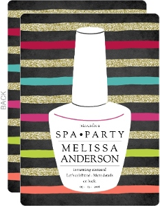 Bright & Bold Spa Birthday Party Invitation