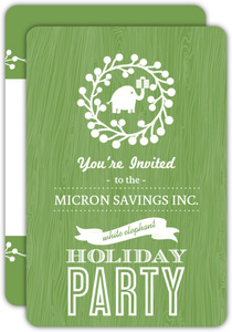White Elephant Business Holiday Party Invitation