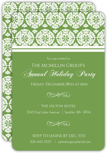 Simple Pattern Business Holiday Party Invitation