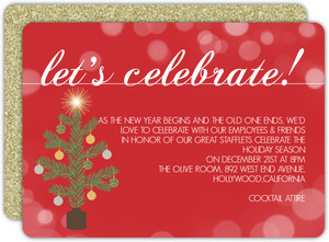 Simple Celebration Business Holiday Party Invitation