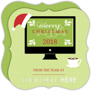 Festive Computer Business Holiday Card