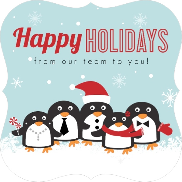 Penguin team business holiday card business holiday cards penguin team business holiday card colourmoves