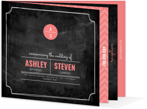 Modern Chalkboard Wedding Booklet Invitation