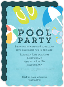Fun In The Pool Party Invitation