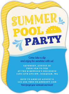 Sunny Pool Party Invitation