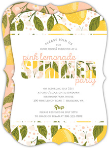 Fresh Lemonade Summer Party Invitation
