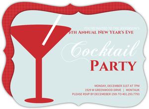 Blue Martini New Years Invitation