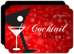 Red Martini New Years Party Invitation