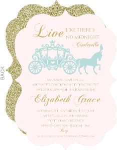Royal Carriage Sixteen Birthday Invitation