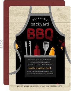 Rustic Apron BBQ Party Invitation