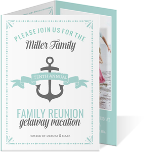 Cute Nautical Family Reunion Invitation
