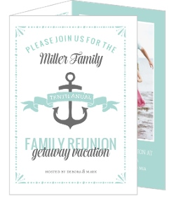 Cute Nautical Family Reunion Invitation  Invitations For Family Reunion