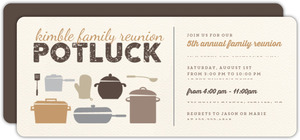 Rustic Potluck Family Reunion Party Invitation