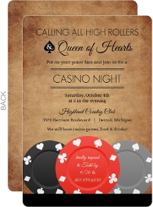 Rustic Style Poker Night Invitation