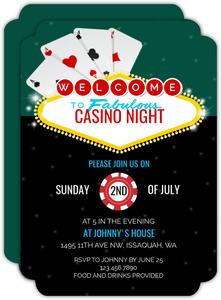 Fabulous Casino Party Invitation