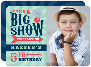 Big Show Carnival Birthday Party Invitation