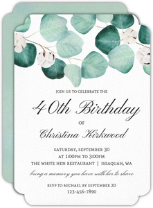 Elegant Silver Dollar Adult Birthday Invitation