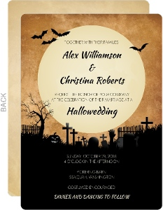 Graveyard At Midnight Wedding Invitation