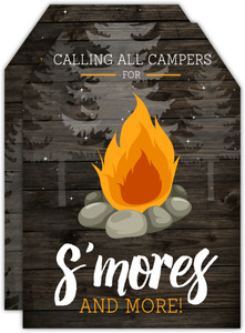 Night Sky Campfire Birthday Invitation