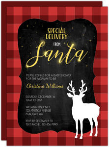 Special Delivery From Santa Baby Shower Invitation