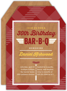 Barbecue 30th Birthday Party Invitation