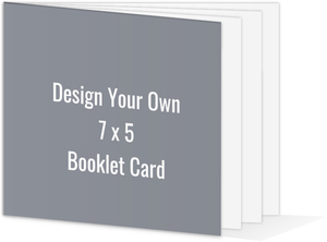 Create Your Own 5x7 Booklet Card
