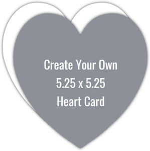 Create Your Own 5.25x5.25 Heart Trim Card