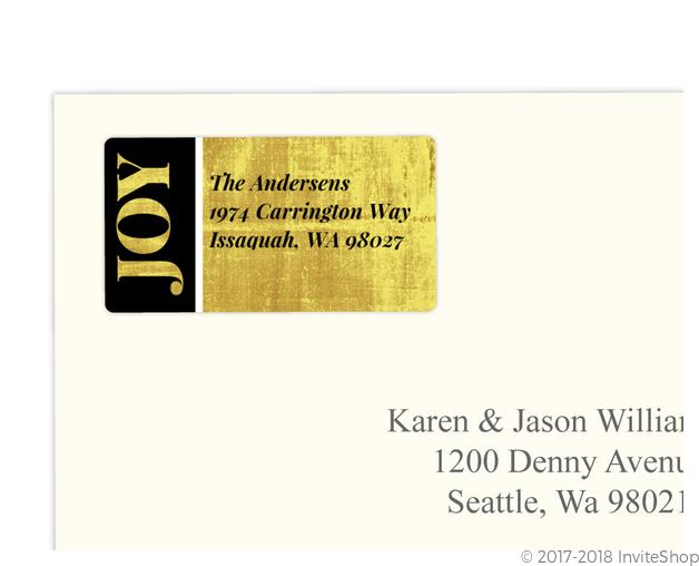 modern black gold custom address label address labels