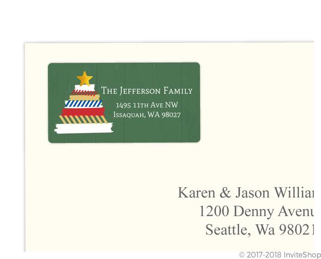 fun washi tape tree holiday address label address labels